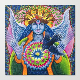 Estrella de la Luz - Angel of New Beginnings Canvas Print