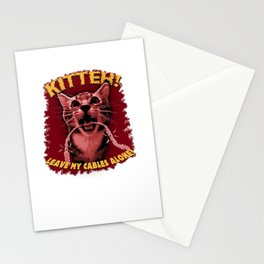 Kitteh! Leave My Cables Alone! Stationery Cards