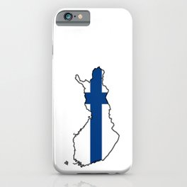 Finland Map with Finnish Flag iPhone Case