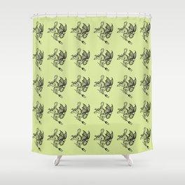 Ancient Imp Mythical Mythology Color Pattern Shower Curtain