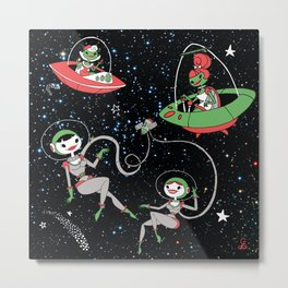 Space Cuties Metal Print
