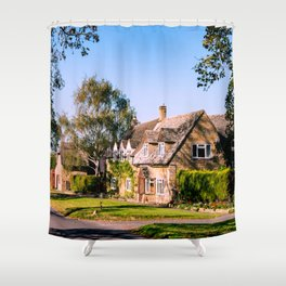 Autumn village. (v2) Shower Curtain