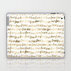 Gold Love Pattern Laptop & iPad Skin