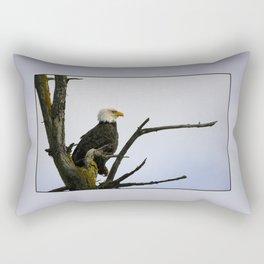 eagle striking a pose Rectangular Pillow