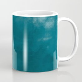 Burst of Color Tropical Dark Teal Inspired by Sherwin Williams 2020 Trending Color Oceanside SW6496 Abstract Watercolor Blend Coffee Mug