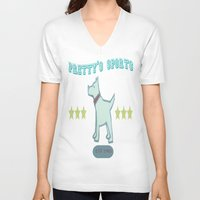 sport V-neck T-shirts featuring Pretty's Sport by zekret