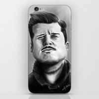brad pitt iPhone & iPod Skins featuring Bred Pitt Caricature by ikaccass