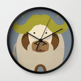 Whimsy Cape Buffalo Wall Clock