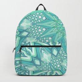 Burst Mandala Turquoise Backpack