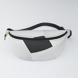 Squares 2 Black and White Fanny Pack