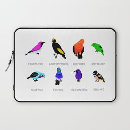 Birds react to the state of the world Laptop Sleeve