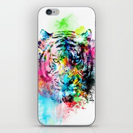 colorful tiger iPhone Skin