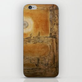 """""""Myth pointing to the moon"""" iPhone Skin"""