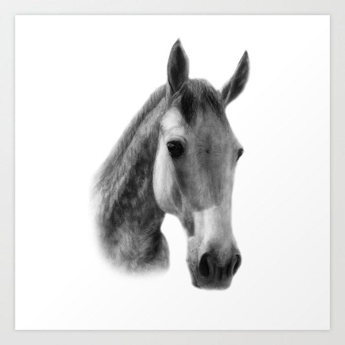 dapple horse art print by danguole society6