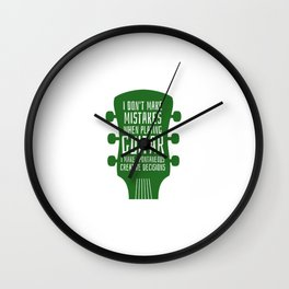Accoustic Guitar Guitarist Bass Acoustic Wall Clock