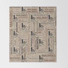 Malinois - Belgian shepherd - Mechelaar Throw Blanket