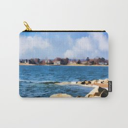 New England Shoreline - Painterly Carry-All Pouch