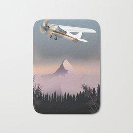 Vintage flight cartoon poster Bath Mat