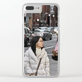 Unknown Faces In Different Places (Pt 1 - NYC, NY) Clear iPhone Case