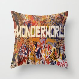 #Wonderworld Throw Pillow