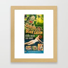 Creature from the Black Lagoon, vintage horror movie poster Framed Art Print