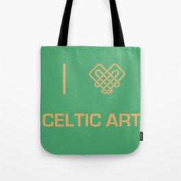 I heart Celtic Art Tote Bag