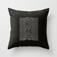 joy division Throw Pillows featuring Joy Division by TheSiro