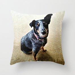 Brown Dog Throw Pillow