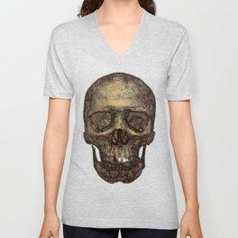 Golden Skull Unisex V-Neck