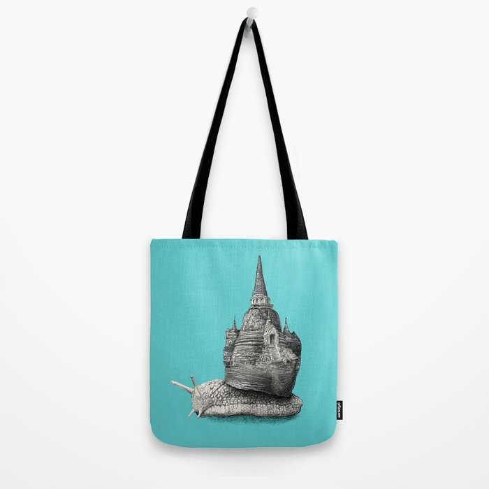 The Snail's Dream (monochrome option) Tote Bag