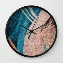 Dark Grace [1]: an abstract watercolor by Alyssa Hamilton Art Wall Clock
