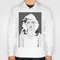 blondie Hoodies featuring blondie by Tara Durrant Designs