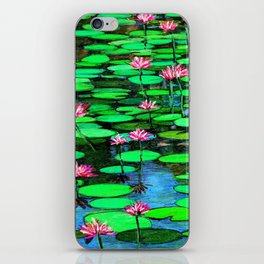 Lilies FromMonet's  Gardens iPhone Skin