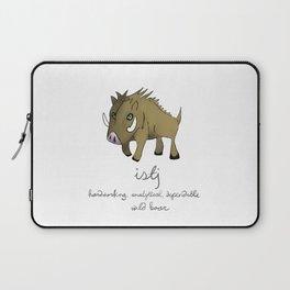 ISTJ MBTI Spirit Animal Wild Boar Laptop Sleeve