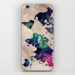 World map watercolor 1 iPhone Skin