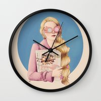 luna lovegood Wall Clocks featuring Luna II by Inflomora