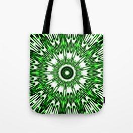 Green White Black Explosion Tote Bag