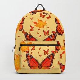 AUTUMN LEAVES & MONARCH BUTTERFLIES ART Backpack