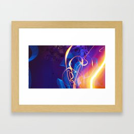 Chaos and Lines - Intro to Lightfight Framed Art Print