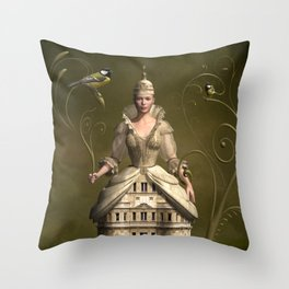 Kingdom of her own Throw Pillow
