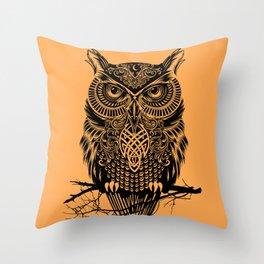 Warrior Owl 2 Throw Pillow