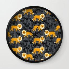 Safari Lion by Andrea Lauren Wall Clock