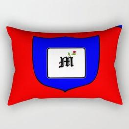 A Family Crest with a Capital Letter M, Mu Rectangular Pillow