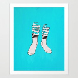 SOCKS Art Print