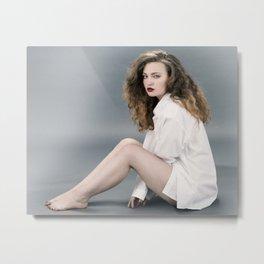 white shirt-12 Metal Print