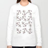 anchors Long Sleeve T-shirts featuring Anchors by Jumanaah Hiasat