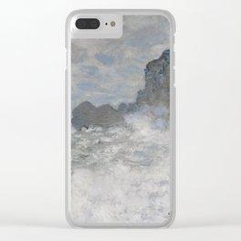 Claude Monet Rough weather at Étretat Clear iPhone Case
