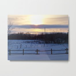 in the middle of nowhere i found myself Metal Print