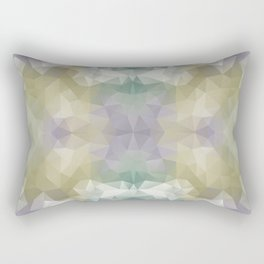 """Flowerbed"" triangles design Rectangular Pillow"