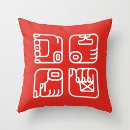 Mayan Glyphs ~ Hands Throw Pillow